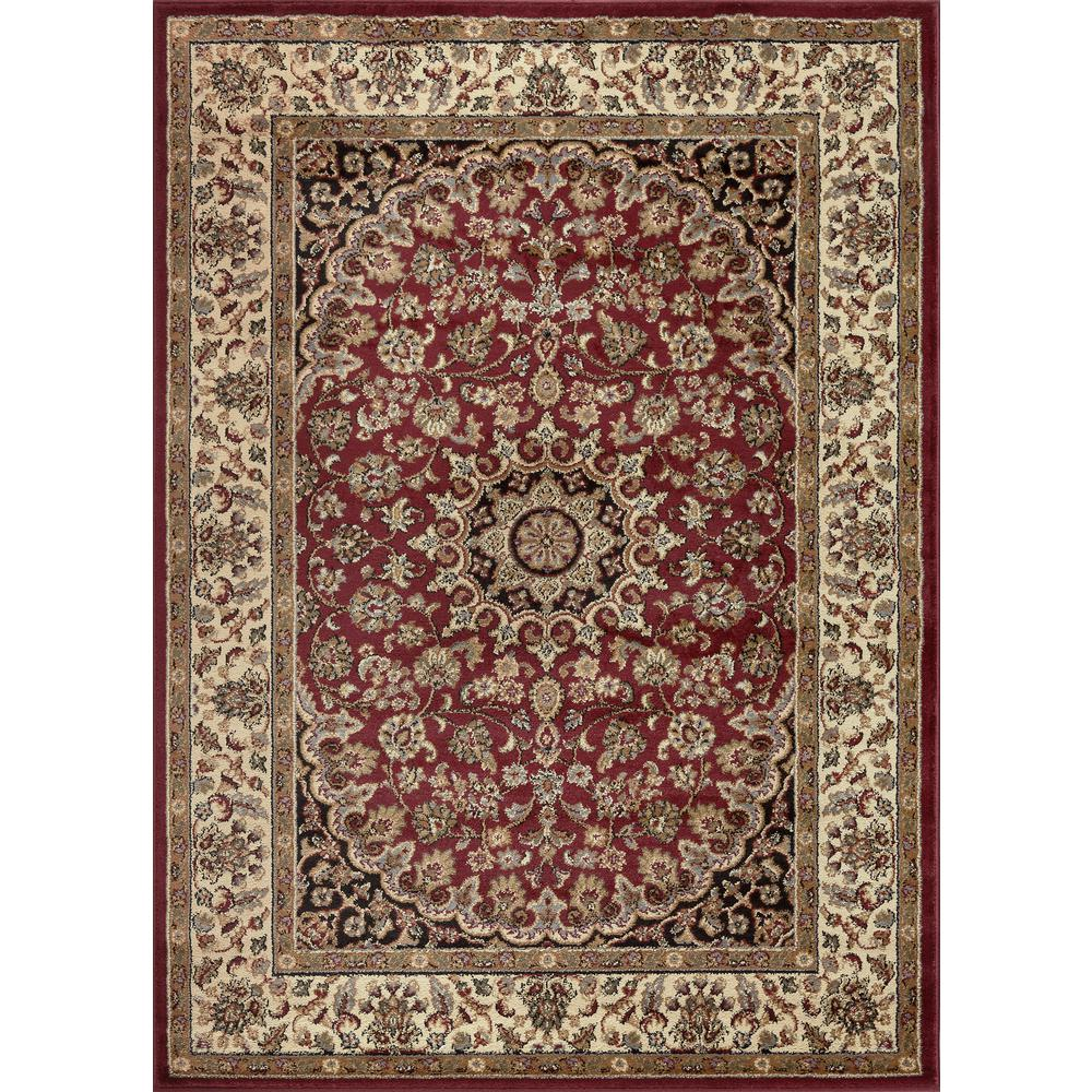 tayse rugs elegance red 9 ft 3 in x 12 ft 6 in indoor area rug 5390 red 9x13 the home depot. Black Bedroom Furniture Sets. Home Design Ideas