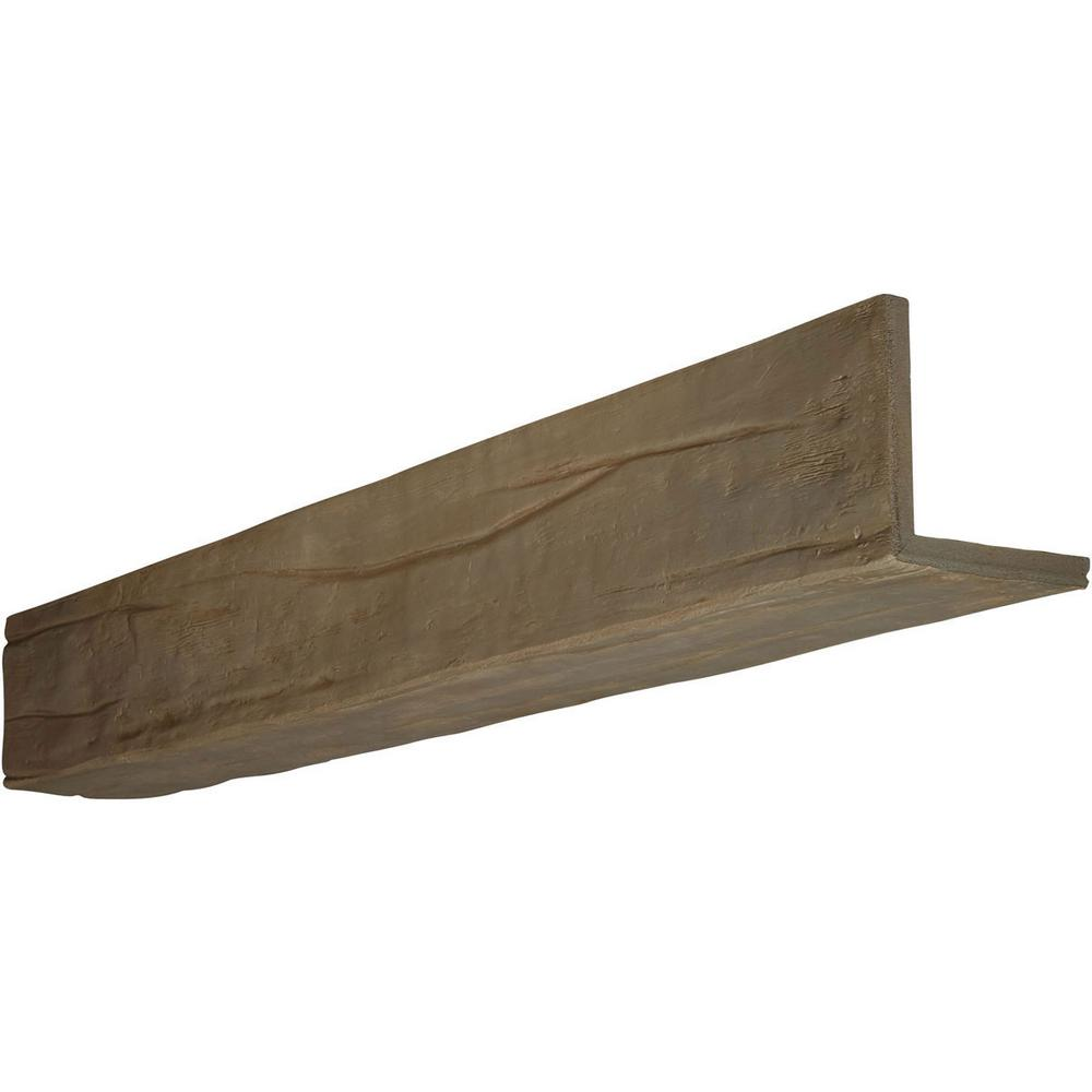 Ekena Millwork 12 in. x 8 in. x 8 ft. 2-Sided (L-Beam) Ri...