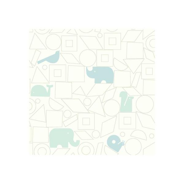 York Wallcoverings DwellStudio Baby and Kids Animal Blocks Wallpaper DW2443