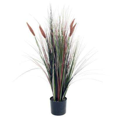 4 ft. Ornamental Artificial Tall Cattail Grass