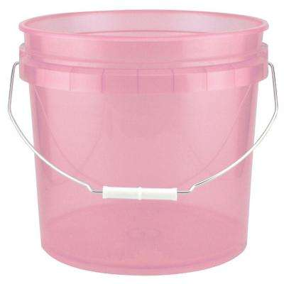 3.5-Gal. Watermelon Plastic Translucent Pail (Pack of 3)