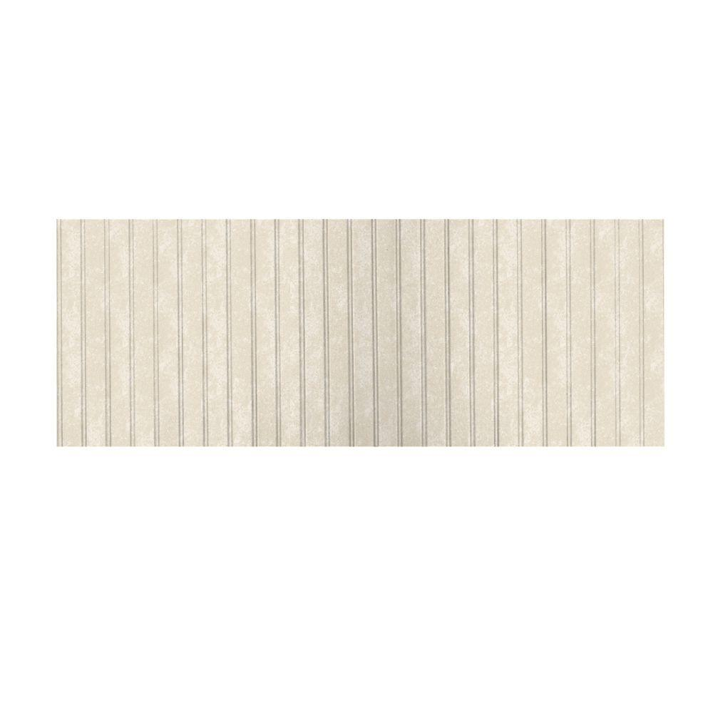 Swanstone 3 ft. x 8 ft. Beadboard One Piece Easy Up Adhesive Wainscot in Cloud Bone-DISCONTINUED
