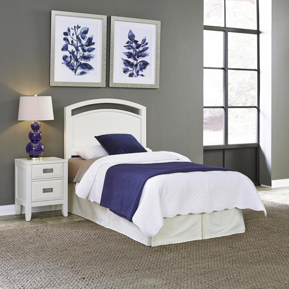 Newport 2-Piece White Twin Bedroom Set
