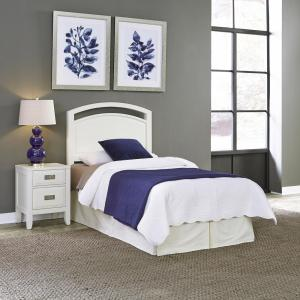 Home Styles Newport 2-Piece White Twin Bedroom Set by Home Styles