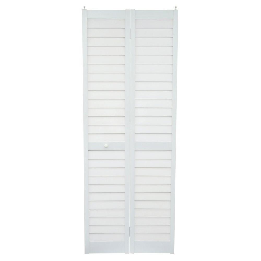 Louver/Louver Cherry Composite Interior Closet Bi Fold Door
