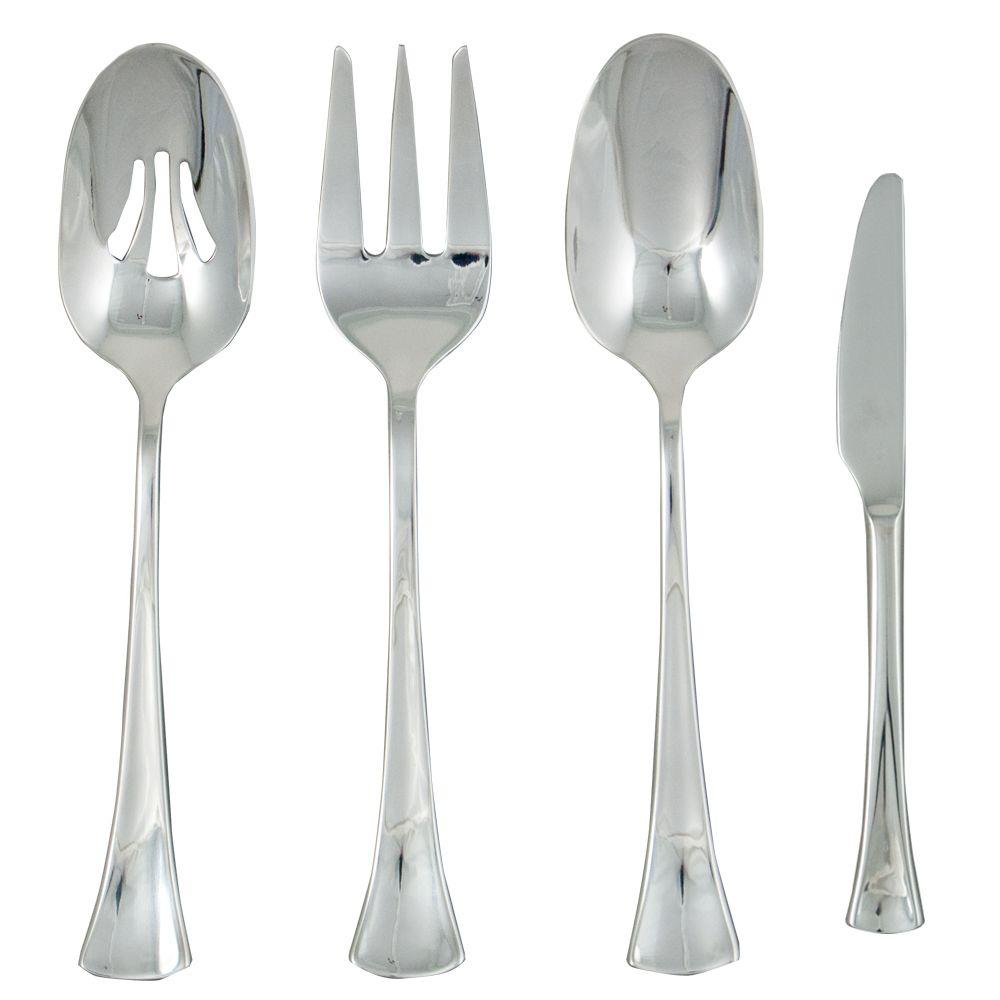 Ginkgo Woodruff 4-Piece Hostess Set