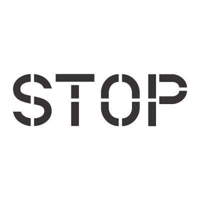 8 in. Stop Stencil