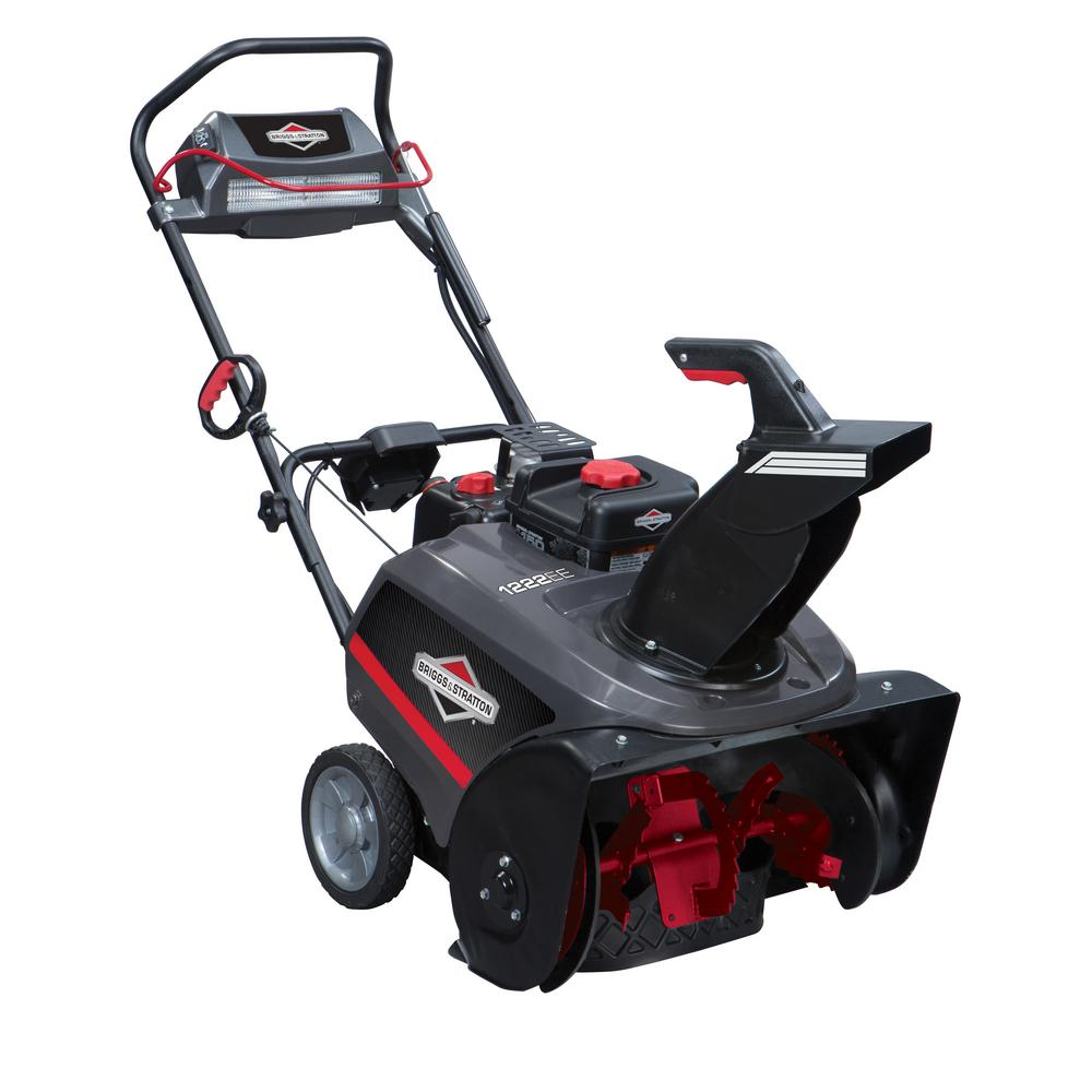 22 in. 250cc Single Stage Electric Start Gas Snowthrower with Snow