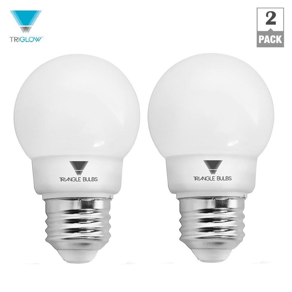 25-Watt Equivalent G16 Dimmable E26 Base LED Globe Light Bulb (2-Pack)