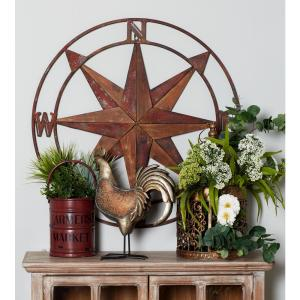 Iron Red Nautical Compass Metal Work by
