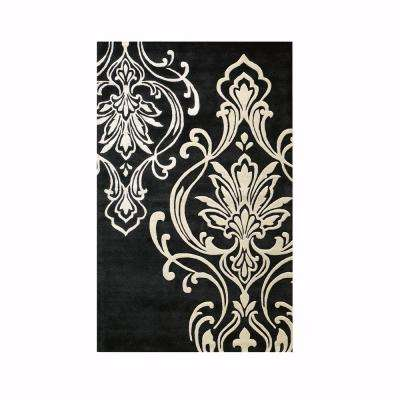 Romantica Black 2 ft. x 4 ft. Area Rug