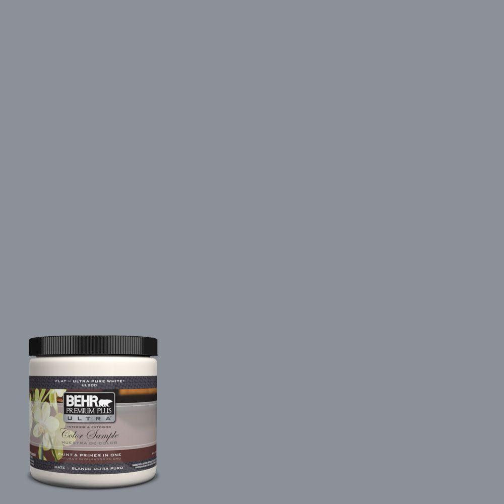 BEHR Premium Plus Ultra 8 oz. #UL260-20 Dark Pewter Interior/Exterior Paint Sample