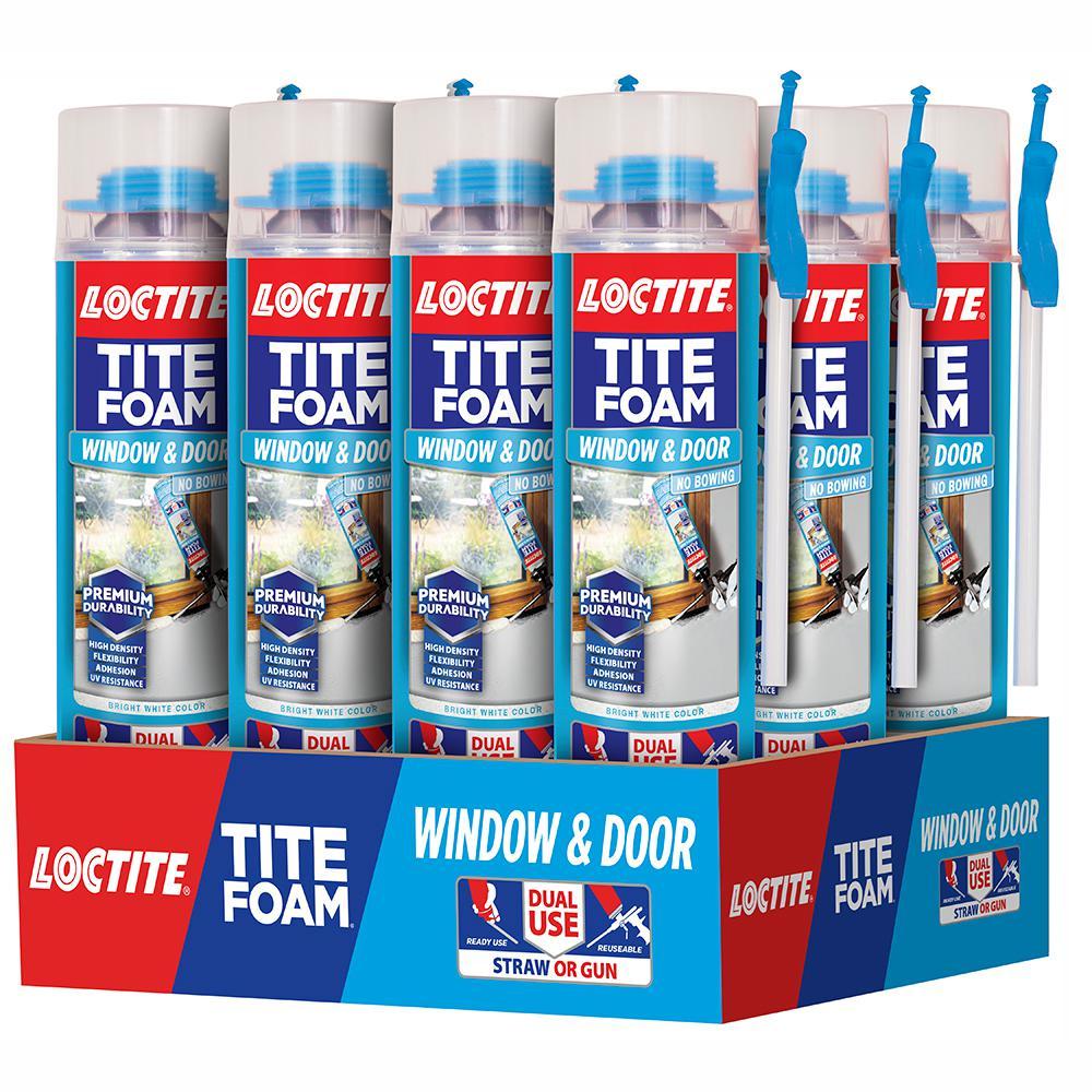 Tite Foam Dual Use Pro Can Window and Door 19.6 oz. Spray Foam Sealant (12-Pack)