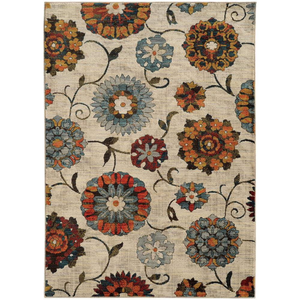 Margot Beige and Multi 7 ft. 10 in. x 10 ft.