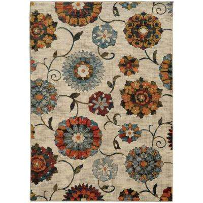 Margot Beige and Multi 10 ft. x 13 ft. Area Rug