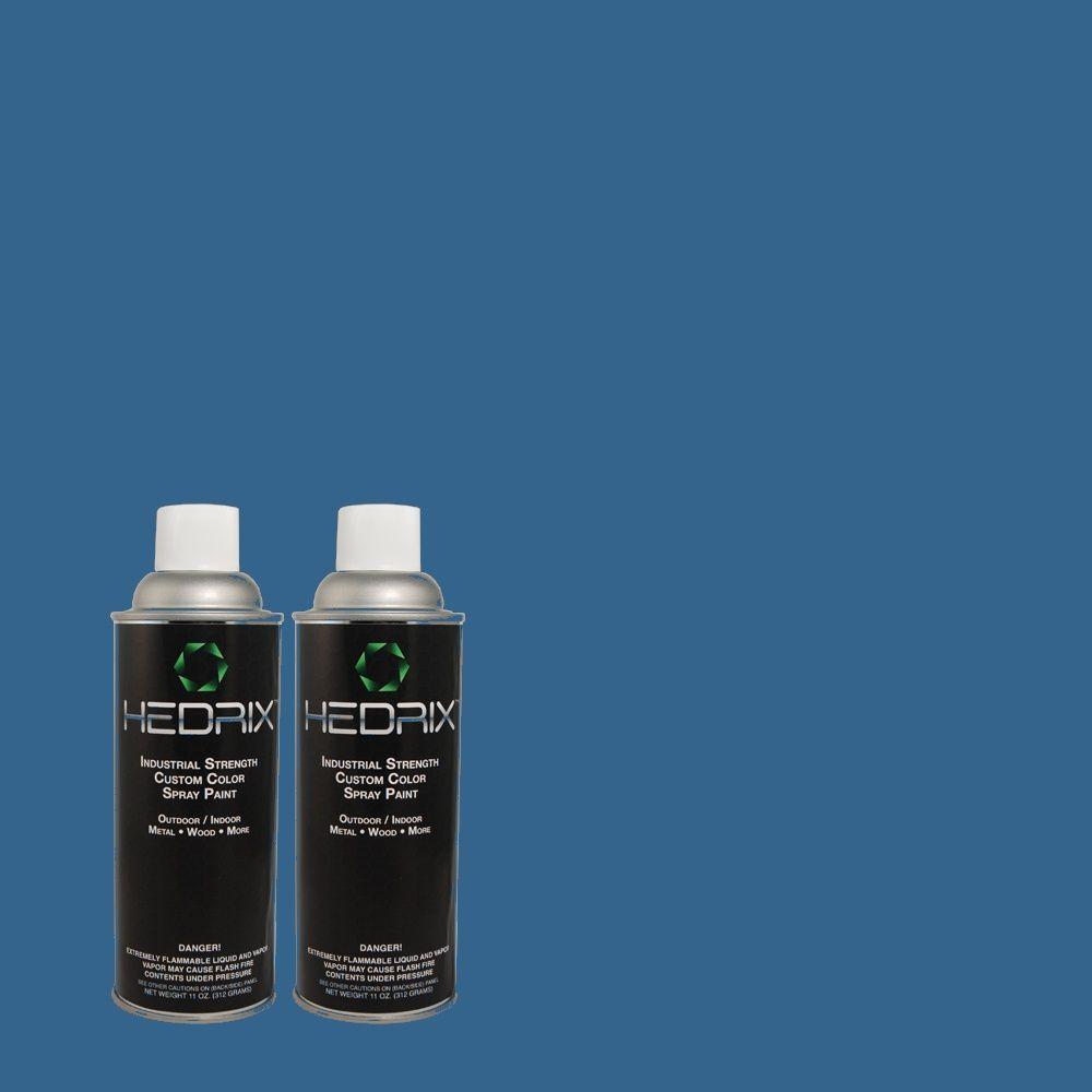 Hedrix 11 oz. Match of S-G-580 Running Water Semi-Gloss Custom Spray Paint (2-Pack)