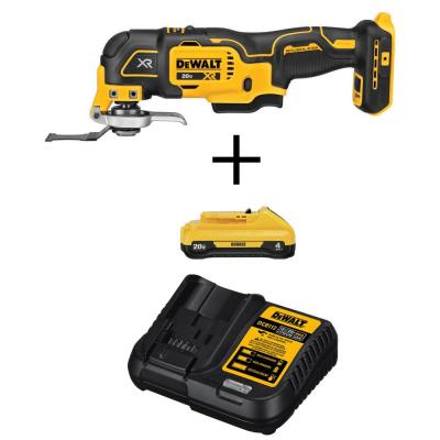 20-Volt MAX Cordless Brushless Oscillating Tool with (1) 20-Volt 4.0 Ah Battery & Charger