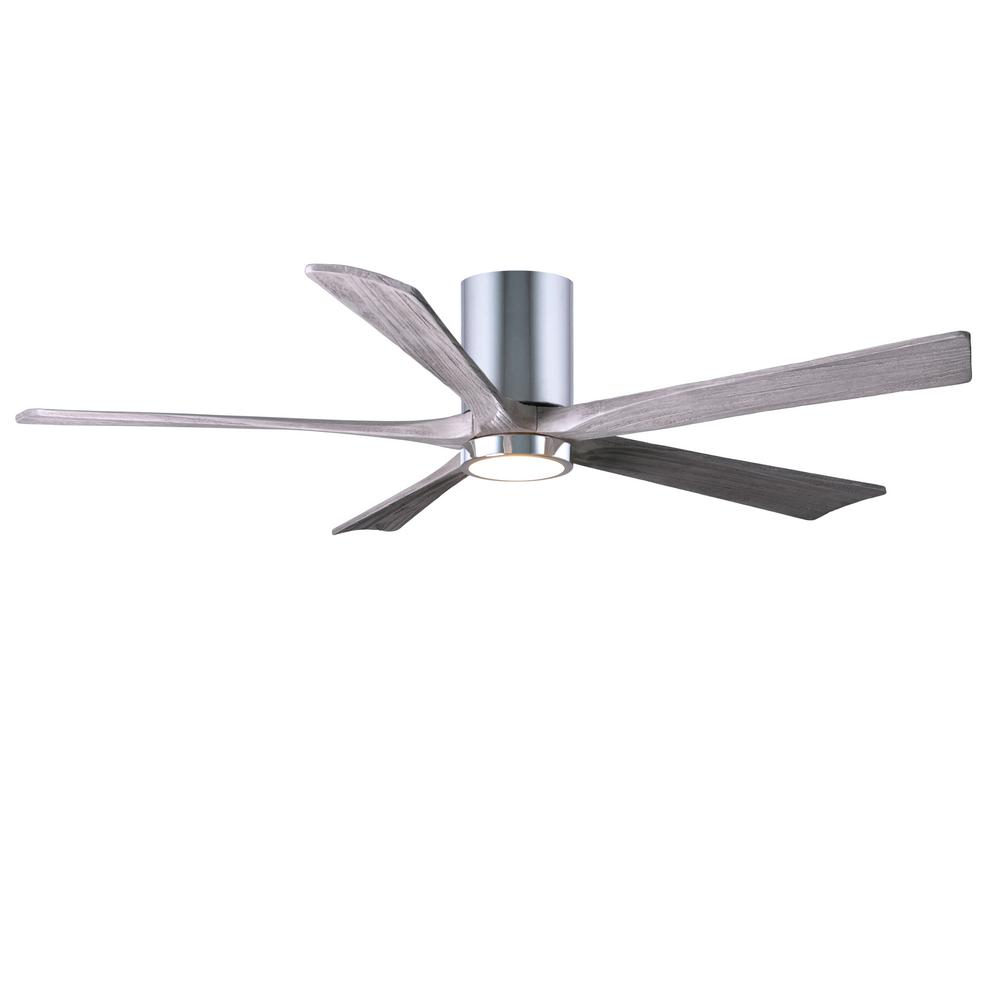 Irene 60 in. LED Indoor/Outdoor Damp Polished Chrome Ceiling Fan with