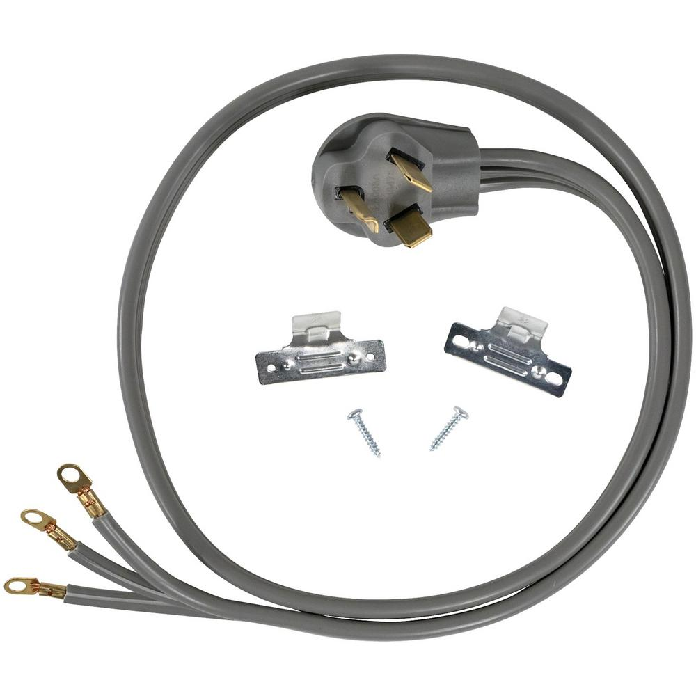 CERTIFIED APPLIANCE ACCESSORIES 4 ft. 10/3 3-Wire Closed-Eyelet 30-Amp Dryer Cord For years, licensed plumbers, electricians, and appliance installers have relied on CERTIFIED APPLIANCE ACCESSORIES for their power cords, hoses, and connectors. Now you can too. Enjoy the convenience offered by this dryer cord from CERTIFIED APPLIANCE ACCESSORIES. Its flexibility and durability ensure reliable connections for your next home installation project. This high-quality dryer cord has been thoroughly tested and is backed by a 5-year limited warranty. Follow the illustrated, step-by-step directions included in the packaging. Always consult your appliances installation instructions. Check your appliances manual for the correct specifications to ensure this is the right cord for you. Thank you for choosing CERTIFIED APPLIANCE ACCESSORIES Your Appliance Connection Solution.