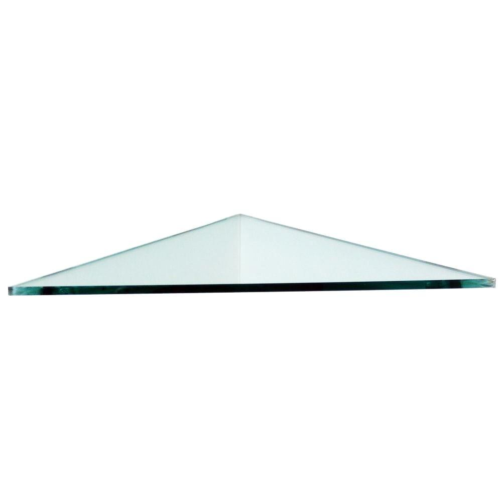 Floating Glass Shelves 3 8 In Triangle Corner Shelf Price Varies By