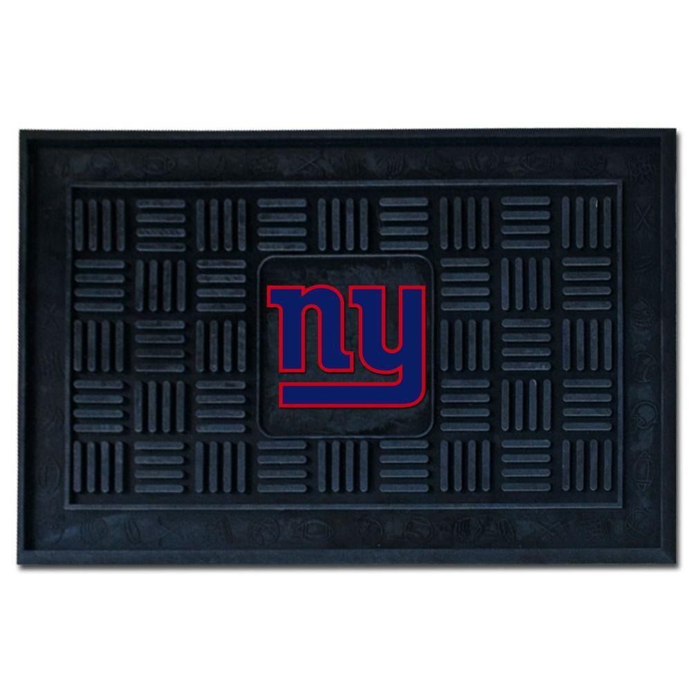 NFL New York Giants Black 19 in. x 30 in. Vinyl Outdoor Door Mat