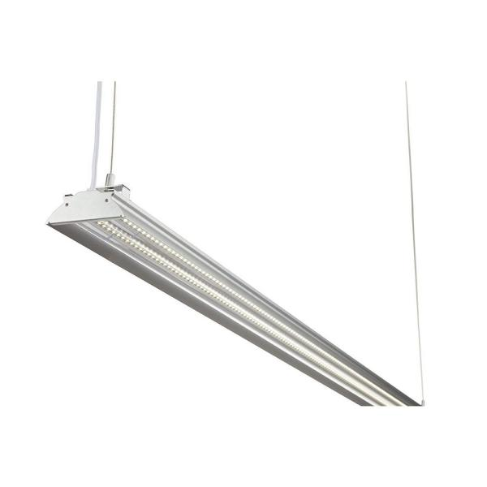 4 ft. 35-Watt (100-Watt Equivalent) Integrated LED Aluminum Shop Light 5000K Clear Cover