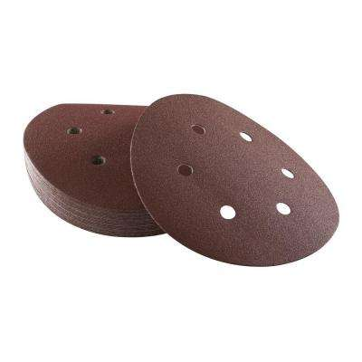 6 in. 6-Hole Red 100-Grit Hook and Loop Sanding Disc (25-Pack)