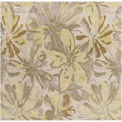 Amaranthus Butter 9 ft. 9 in. x 9 ft. 9 in. Square Indoor Area Rug