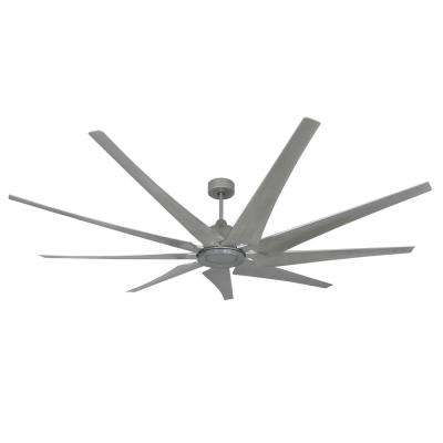 Liberator 82 in. Indoor/Outdoor Brushed Nickel Ceiling Fan with Remote Control