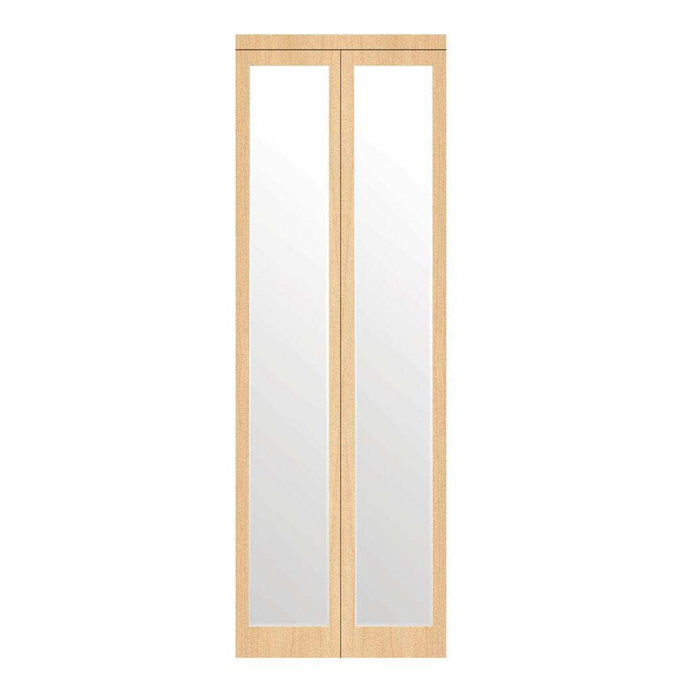 30 in. x 80 in. Mir-Mel Stain Grade Maple Mirror Solid