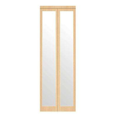 Mir-Mel Primed Mirror Trim Solid MDF Interior Closet Bi-fold Door