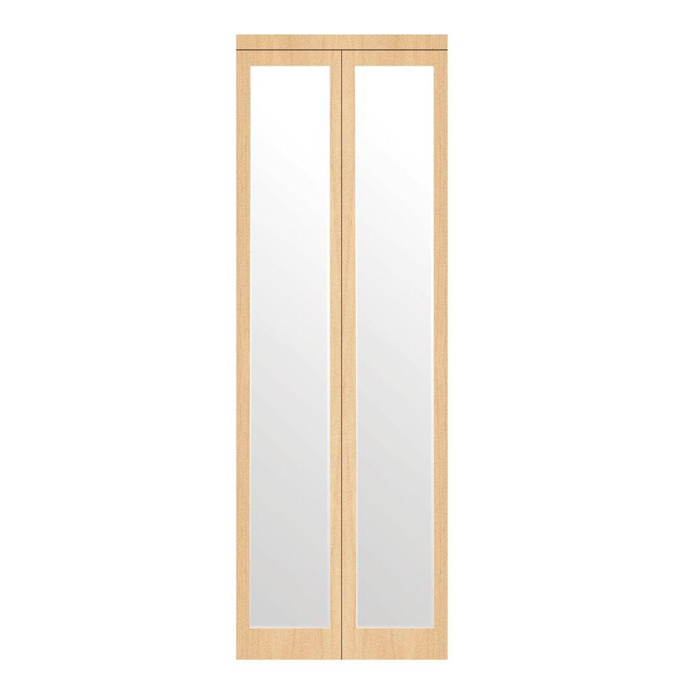 36 in. x 80 in. Mir-Mel Stain Grade Maple Mirror Solid