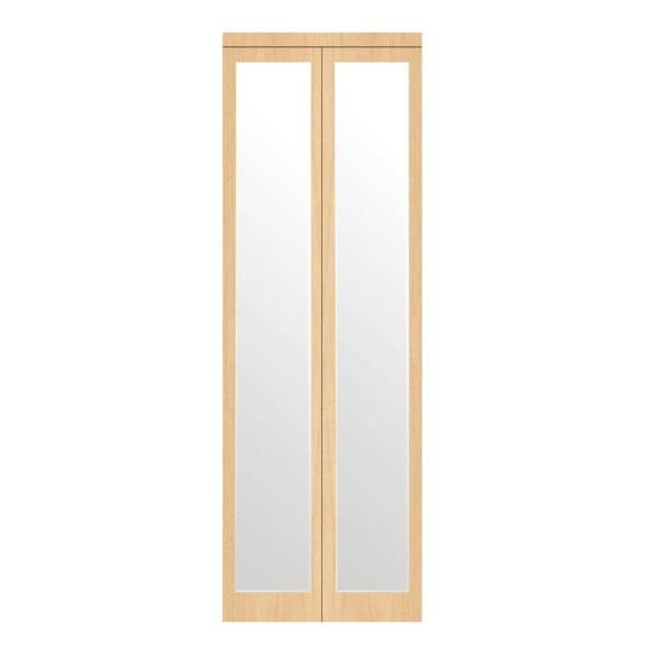 Impact Plus 24 In X 96 In Mir Mel Stain Grade Maple Mirror Solid Core Mdf Interior Closet Bi Fold Door With Matching Trim Bmmm342 2496m The Home Depot
