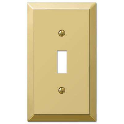 Metallic 1 Toggle Wall Plate - Polished Brass Steel