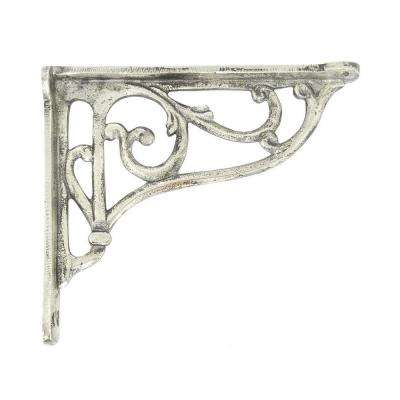9.5 in. x 1.75 in. Antique Silver Corner Bracket