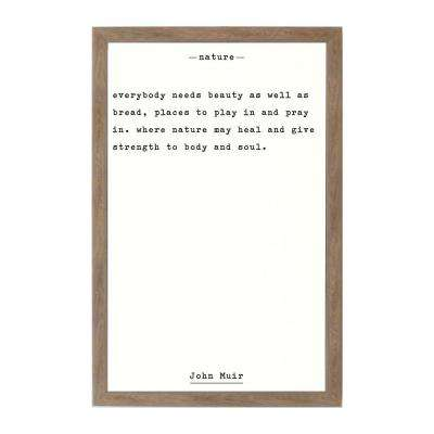 Nature - John Muir Rustic Brown Frame Magnetic Memo Board