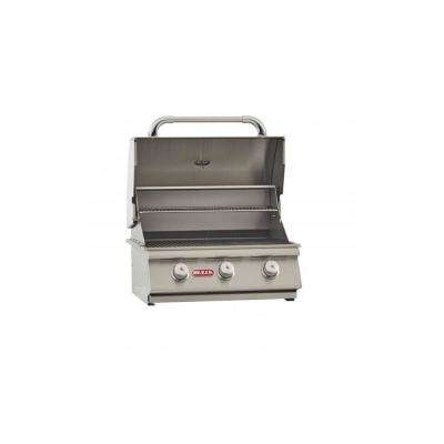 24 in. 45,000 BTUs 3-Burner Built-In Steer Propane Grill Head
