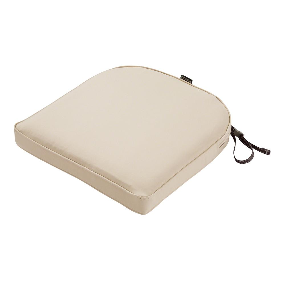 Charmant Classic Accessories Montlake Fade Safe Antique Beige 18 In. Contoured  Outdoor Seat Cushion
