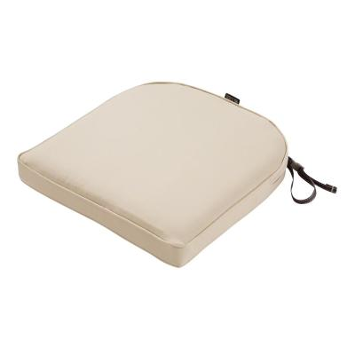 Montlake Fade Safe Antique Beige 18 in. Contoured Outdoor Seat Cushion