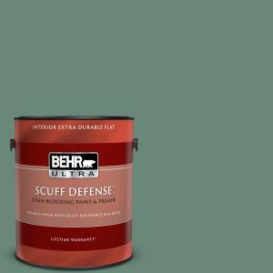 Behr Ultra 1 Gal S420 5 Sycamore Grove Extra Durable Flat Interior Paint Primer 172301 The Home Depot