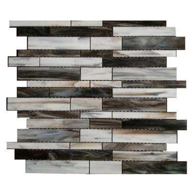 Matchstix Torrent 12 in. x 12 in. x 3 mm Glass Floor and Wall Tile