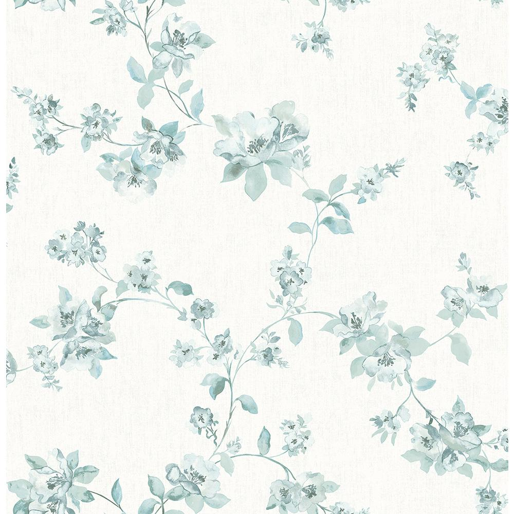 Chesapeake 56 4 Sq Ft Cyrus Teal Floral Wallpaper 3115 24480