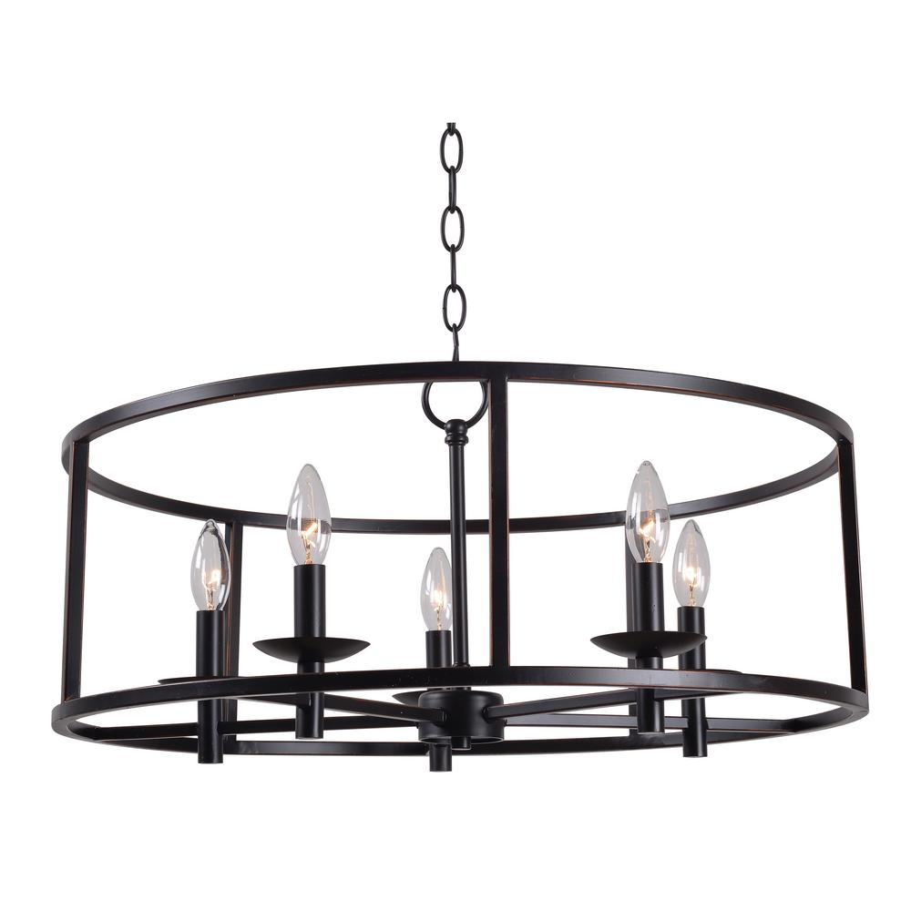 Kenroy Home Arlen 5-Light Bronze Chandelier