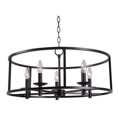 Arlen 5-Light Bronze Chandelier