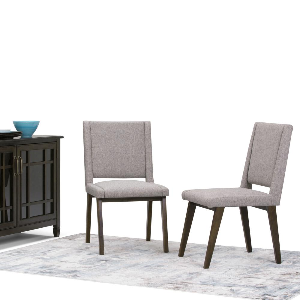 Simpli Home Draper Mid Century Grey Deluxe Dining Chair (Set Of 2)