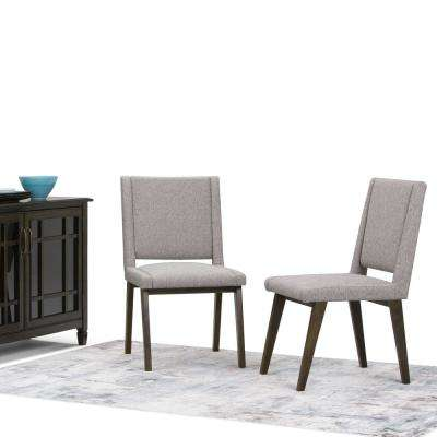 Draper Mid Century Grey Deluxe Dining Chair (Set Of 2)