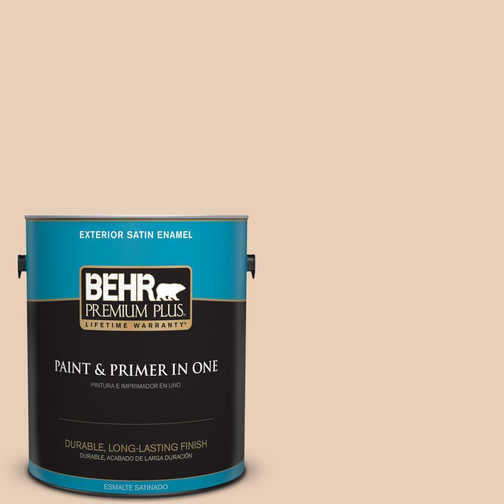 BEHR Premium Plus 1-gal. #ECC-16-1 Floral Bluff Satin Enamel Exterior Paint