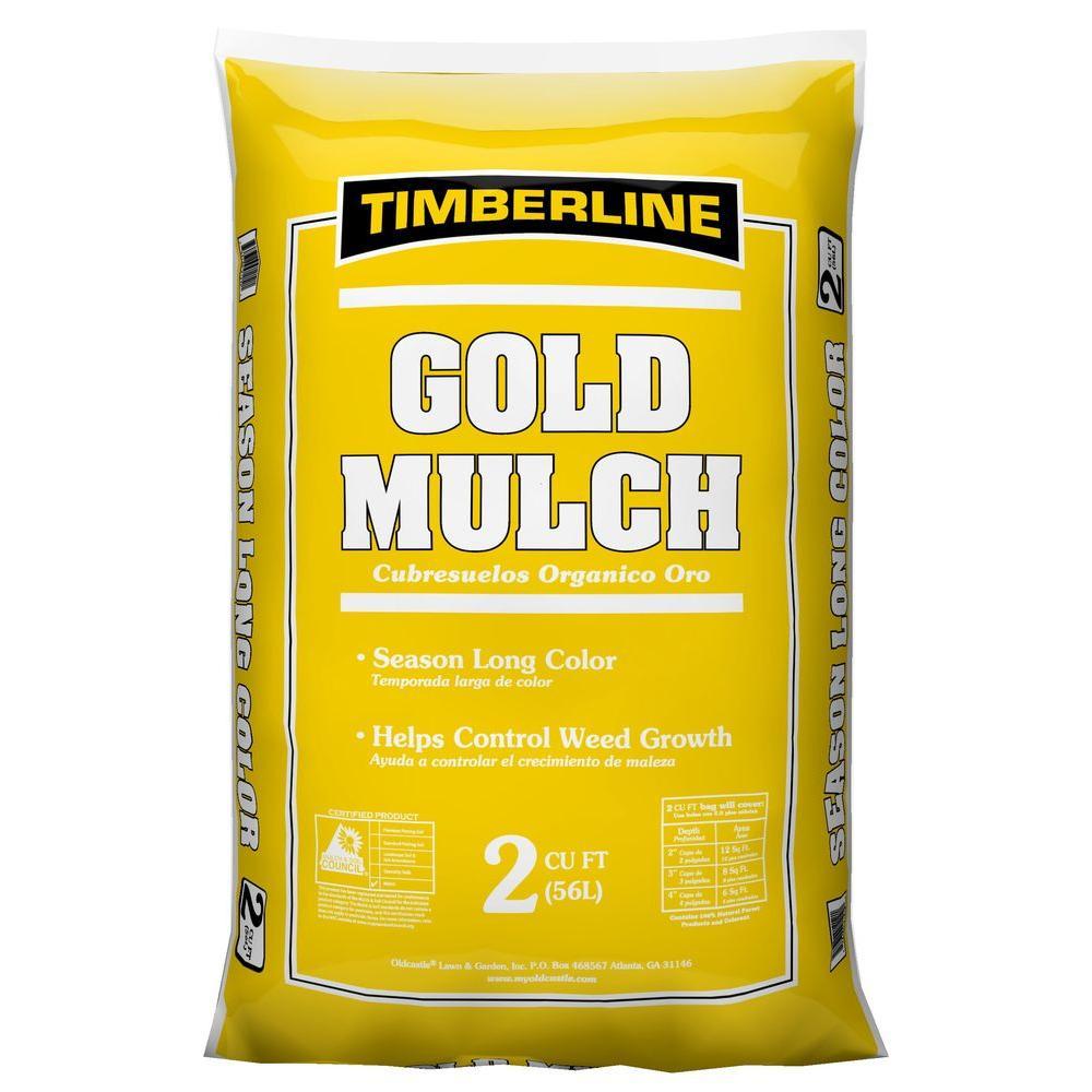 Timberline 2 cu. ft. Pro Gold Pine Mulch