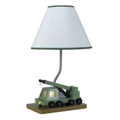 Cooper 21 in. Green Boom Crane Truck Novelty Lamp