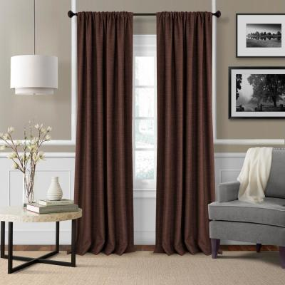Semi Opaque Taupe Velvet Lined